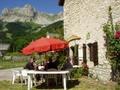 Petite terrasse du Gite Alpes